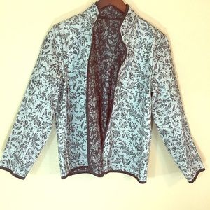 Jackets & Blazers - Gray and black brocade style blazer no tags cute
